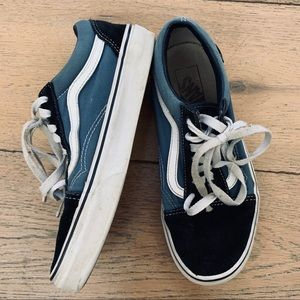 VANS old school off the wall blue sneaker 6.5